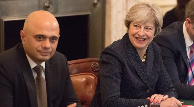 Home Secretary Sajid Javid and Prime Minister Theresa May clashed over the case of Billy Caldwell (Steve Parsons/PA)