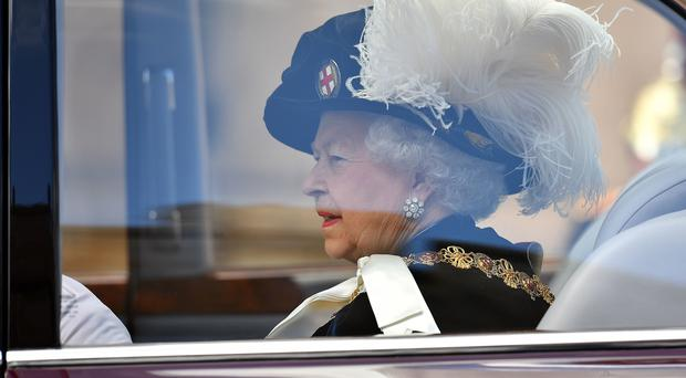The Queen attends the annual Order of the Garter Service at St George's Chapel, Windsor Castle (Ben Stansall/PA)