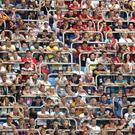 Fans in the ground appear disinterested during the Group G match at The Volgograd Arena, Volgograd (Owen Humphreys/PA)