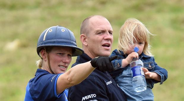 Zara and Mike Tindall with their daughter Mia (Andrew Matthews/PA)