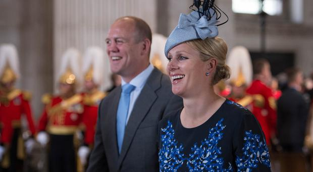 Mike and Zara Tindall have welcomed their second child (Stefan Rousseau/PA)