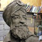 A clay model of a bronze statue of a Sikh soldier commissioned to mark the sacrifice of South Asian service personnel during the First World War. (Sandwell Council/PA)