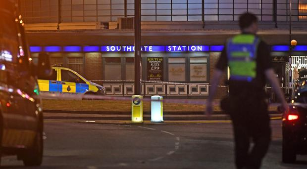 A minor explosion occurred at Southgate Tube station (Victoria Jones/PA)