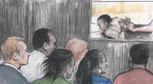 Video evidence shown in court during the Rashan Charles inquest (Elizabeth Cook/PA)