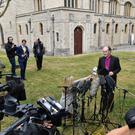 Bishop James Jones delivers a statement on behalf of the panel after the disclosure of the Gosport Independent Panel's report (Dominic Lipinski/PA)