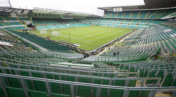 Celtic's new safe standing area for more than 2,000 fans being used for the first time ahead of the pre-season friendly match at Celtic Park, Glasgow (Jeff Holmes/PA)