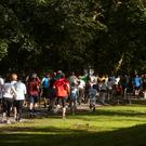 """Participants in a parkrun around Hyde Park in Leeds as the Royal College of General Practitioners and parkrun UK launch an initiative that could see thousands of patients """"prescribed"""" outdoor physical activity rather than medication."""