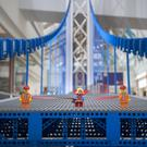A world record-breaking Lego bridge has arrived in Glasgow (Big Partnership/PA)