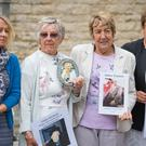 Members of the families of people who died at Gosport War Memorial Hospital (Dominic Lipinski/PA)