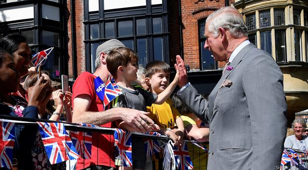 The Prince of Wales saw the recovery programme in Salisbury (Toby Melville/PA)