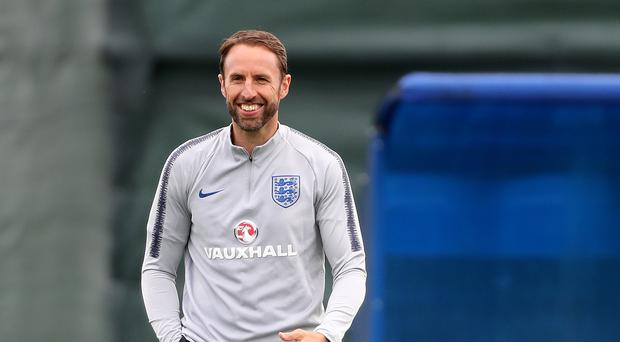 Manager Gareth Southgate and his England team are heading for Nizhny Novgorod. (Owen Humphreys/PA)