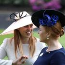 Sarah Ferguson, Duchess of York and daughter Princess Beatrice of York at Royal Ascot (Steve Parsons/PA)