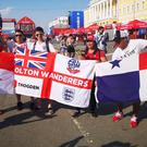 England and Panama fans have been making friends In Nizhny Novgorod. (Scott D'Arcy/PA)