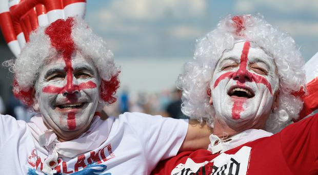 England fans in Nizhny Novgorod ahead of their match against Panama (Aaron Chown/PA)