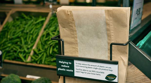 Morrisons say paper bags for fruit and veg will replace plastic bags (Morrisons/PA)
