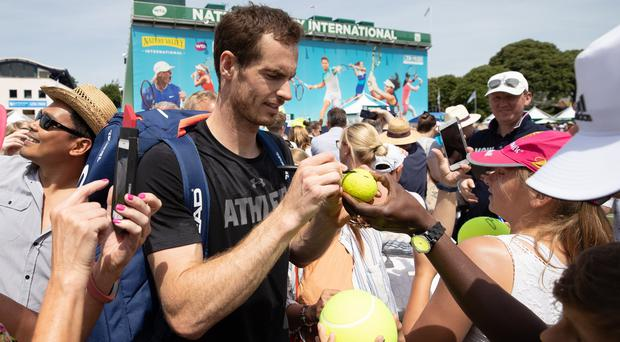 Andy Murray is supporting the Daily Mile initiative to encourage more young people into healthier lifestyles (Ian Walton/PA)