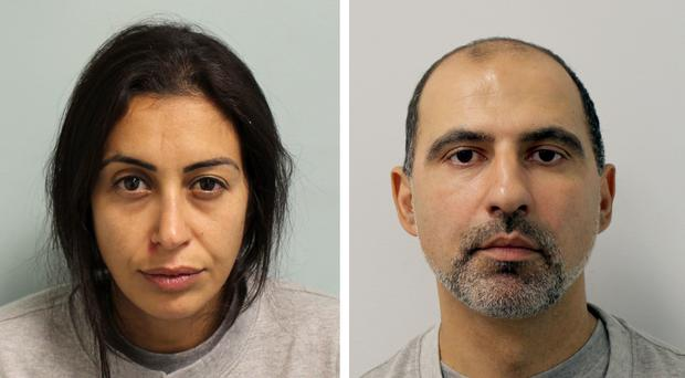 Sabrina Kouider and Ouissem Medouni have been jailed for life (Metropolitan Police/PA)