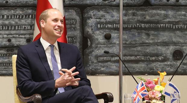 The Duke of Cambridge in Jerusalem (Chris Jackson/PA)