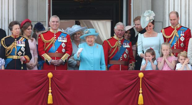 Members of the royal family on the balcony of Buckingham Palace (Yui Mok/PA)