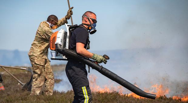 The Army has been called in to help tackle the fire (Sergeant Donald Todd (RLC)/MoD/PA)