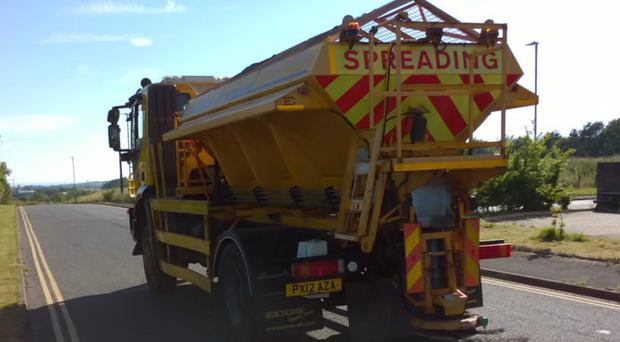 Crushed rock particles are being spread by councils (Cumbria County Council)