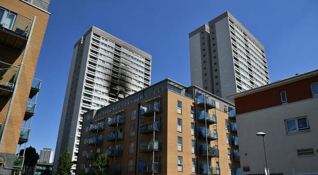 Control officers took more than 90 calls relating to the blaze in Grafton House (Dominic Lipinski/PA)