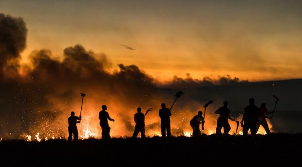 Firefighters have been tackling a fire on Winter Hill (Danny Lawson/PA)