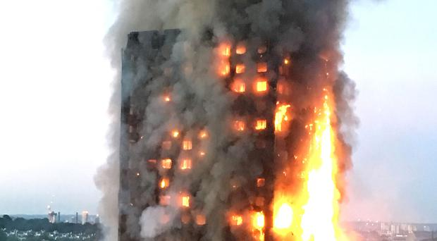 Firefighters recalled the spread of smoke throughout the floors above the fourth storey (Natalie Oxford/PA)