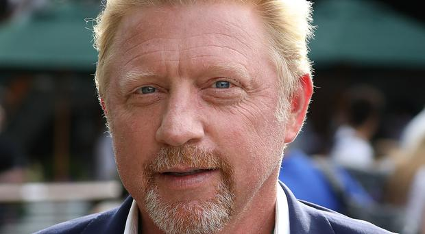 Boris Becker was reprimanded for swearing by the BBC's Sue Barker (Philip Toscano/PA)
