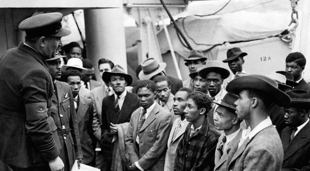 EMBARGOED TO 0001 FRIDAY JUNE 22 File photo 22/06/48 of Jamaican immigrants welcomed by RAF officials from the Colonial Office after the ex-troopship HMT 'Empire Windrush' landed them at Tilbury. Friday marks the 70th anniversary of the generationÕs beginning when about 500 Caribbeans stepped off the Empire Windrush in Tilbury Docks, Essex, to join the effort to rebuild post-war Britain.