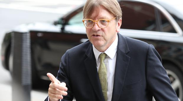 Guy Verhofstadt said the £65 registering fee for EU citizens after Brexit should be removed (Yui Mok/PA)