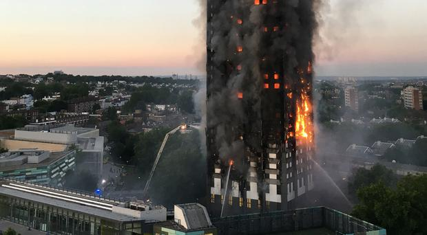 Grenfell Tower fire (Natalie Oxford/PA)