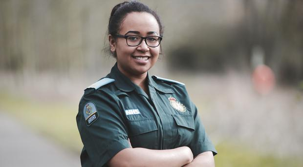 Molly Tarawally is set to become a paramedic during the NHS's 70th year (Alex Grant/London Ambulance Service)
