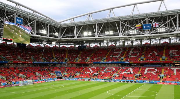 Spartak Stadium, Moscow (Aaron Chown/PA)