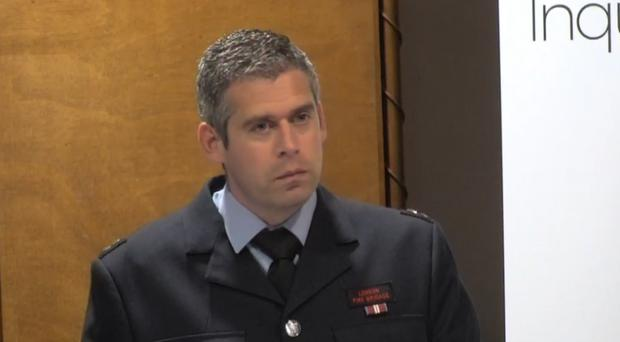 Firefighter Chris Secrett gives evidence (Grenfell Tower Inquiry)