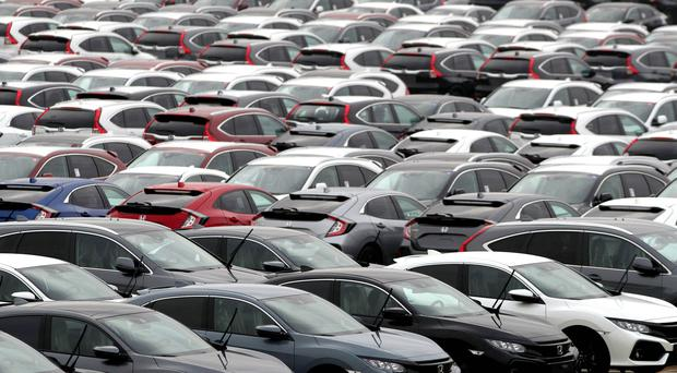 The new car market declined by 3.5% last month (Andrew Matthews/PA)