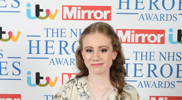 Freya Lewis won the Young Fundraiser Award at the NHS Heroes Awards in London (Ian West/PA)