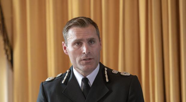 Wiltshire Police Chief Constable Kier Pritchard speaks at a press conference in Amesbury (Steve Parsons/PA)