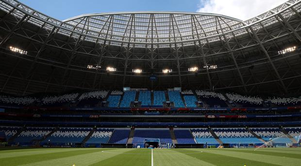 A general view of the Samara Arena (Aaron Chown/PA)