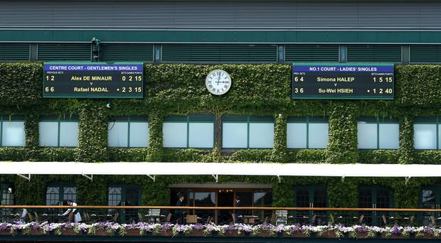 A balcony on centre court as the England game kicks off (Steve Paston/PA)