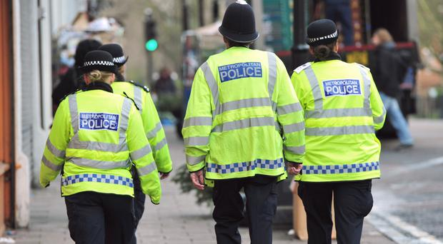 Four Police Officers in Hornsey, London. PRESS ASSOCIATION Photo. Picture date: Wednesday January 7, 2015. Photo credit should read: Anthony Devlin/PA Wire