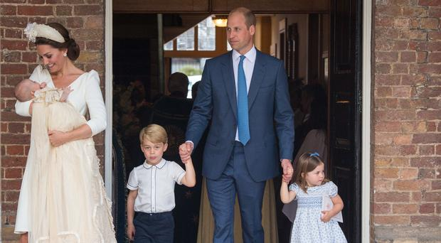 The Duke and Duchess of Cambridge with their children Prince George, Princess Charlotte and Prince Louis (Dominic Lipinski/PA)