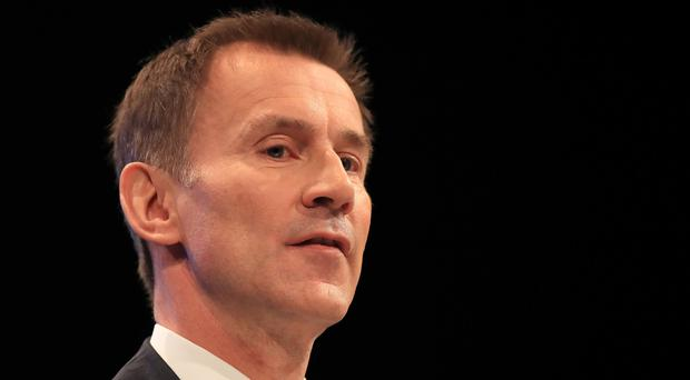 Jeremy Hunt's leadership saw unprecedented striking of junior doctors over Government plans to create a so-called seven-day health service (Peter Byrne/PA)