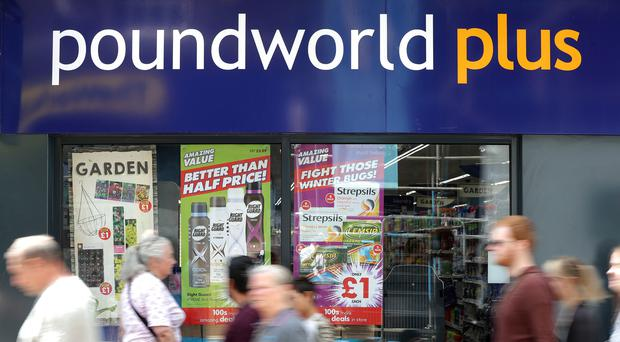 Poundworld is shutting 25 stores (Gareth Fuller/PA)