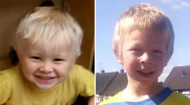 Casper Platt-May (left) and six-year-old Corey Platt-May. Robert Brown who killed the two young brothers in a hit-and-run while high on drugs could have his nine-year jail term increased (PA)