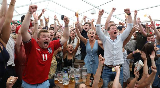 England fans in Wimbledon, south London (Philip Toscano/PA)