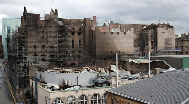 Fire tore through the Mackintosh building for the second time last month (Andrew Milligan/PA)