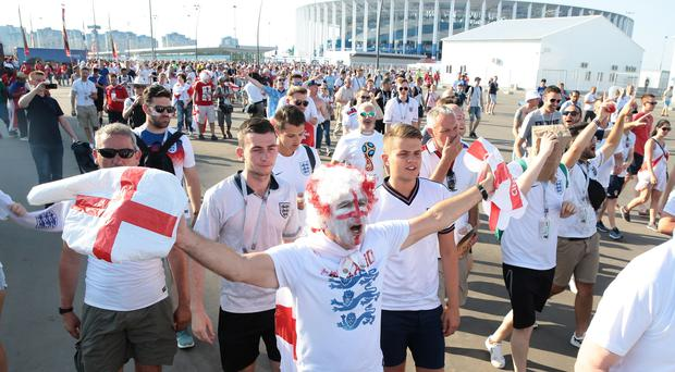 Police estimate there could be as many as 10,000 England fans jetting into the Russian capital for the game (Aaron Chown/PA)