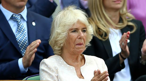 The Duchess of Cornwall watches from the Royal Box (Nigel French/PA)