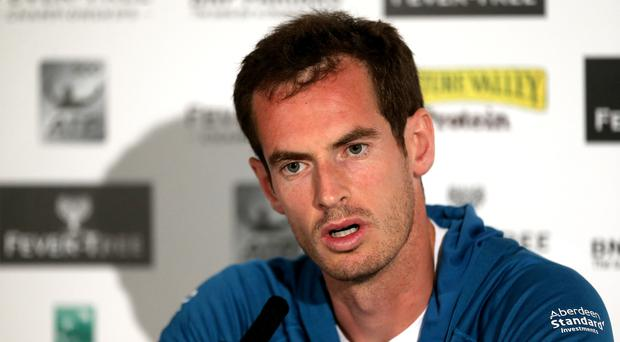 Andy Murray is trying his hand at punditry while he waits to regain fitness (Steven Paston/PA)